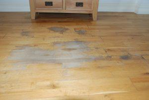 Worn oak floor