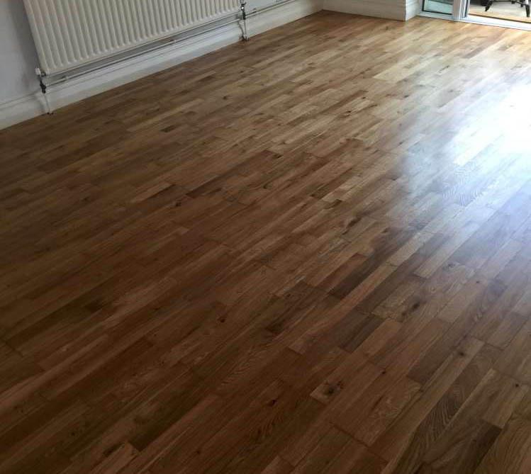 Oak floor sanded