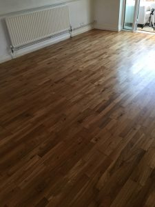 finished oak floor sanding