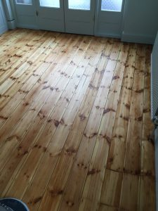 pine floor sanding results