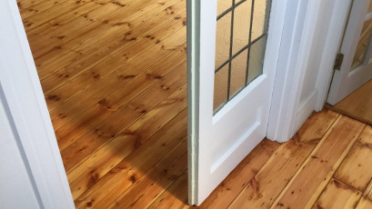 sanded and oiled pine floor