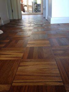 Teak floor sanding after