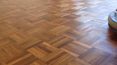 Teak floor sanding