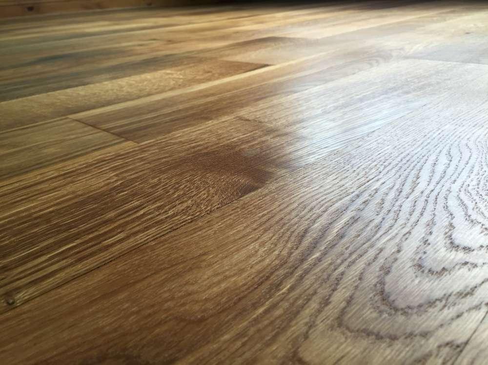 Oak floor restored