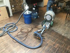 Dust free floor sanding equipment