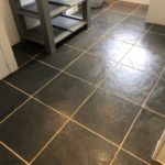 grout cleaning on slate