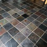 grout cleaning slate after