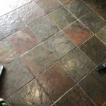 grout cleaning slate before